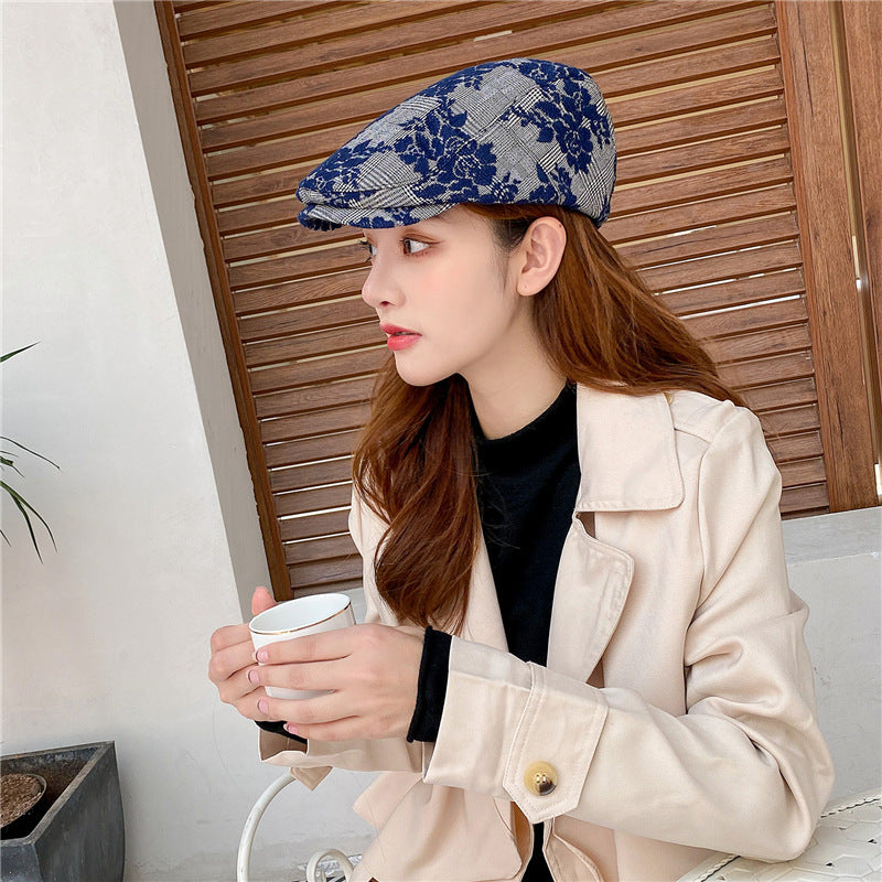 Women Embroidered Cotton Berets Hat