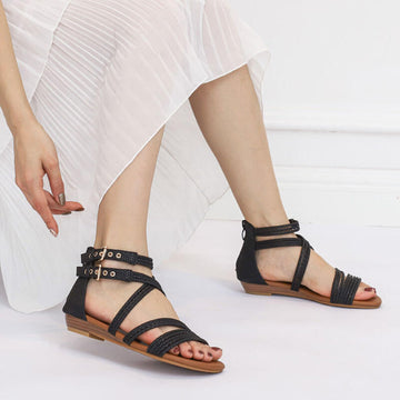 Women Fashion Casual Handmade Leather Summer Sandals