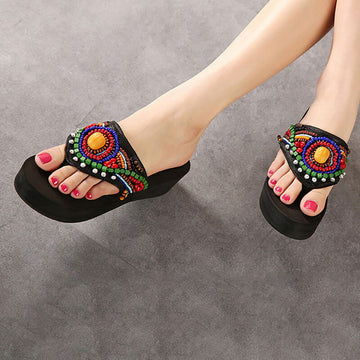 Women Fashion Handmade Outdoor Retro Slippers