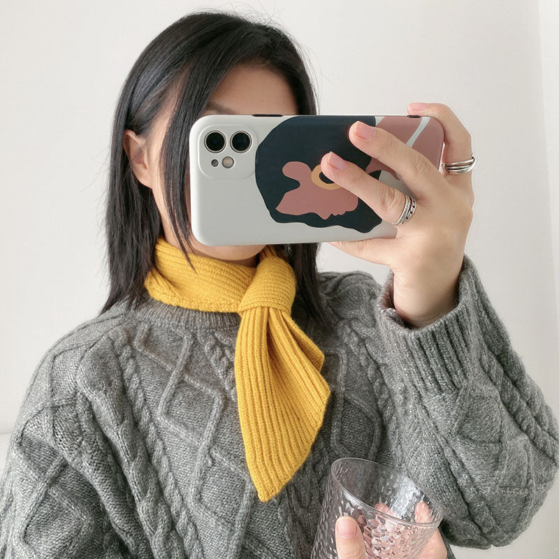 Women Fashion Solid Color Knitted Scarf