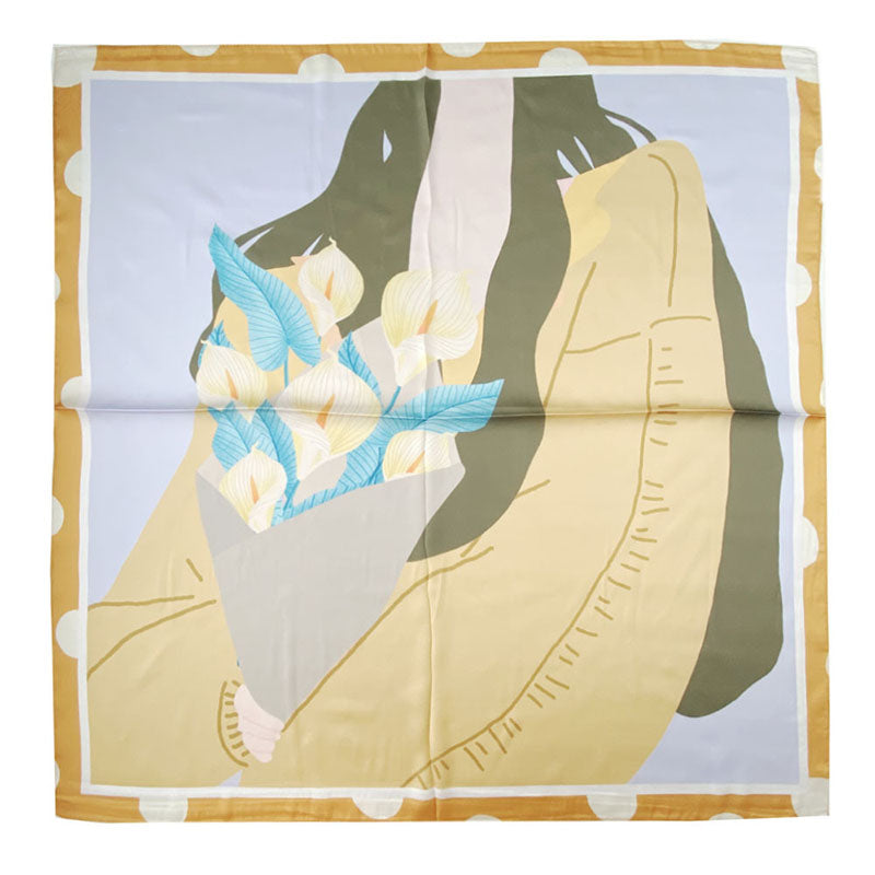 Women Fashion Wild Autumn Silk Scarf