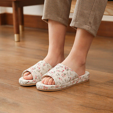 Women Floral Spring Summer Casual Indoor Slippers