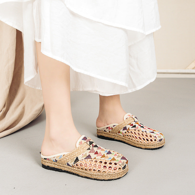 Women Hollow Woven Stitching Sandals