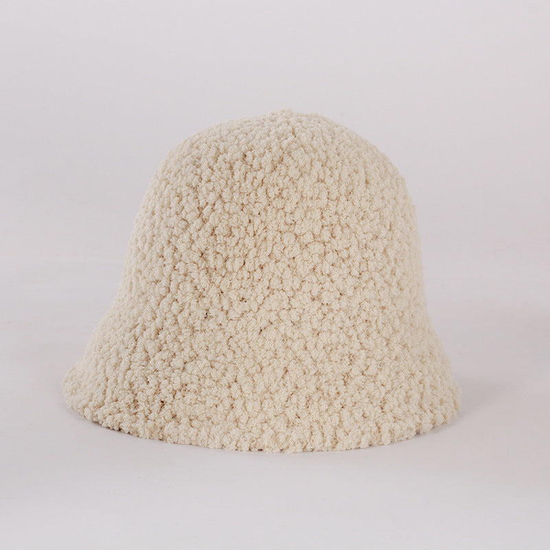 Women Lambswool Pure Color Warm Hat