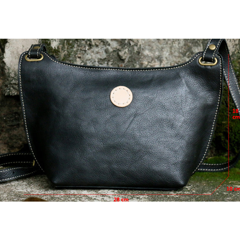 Women Pure Color Crossbody Leather Bag