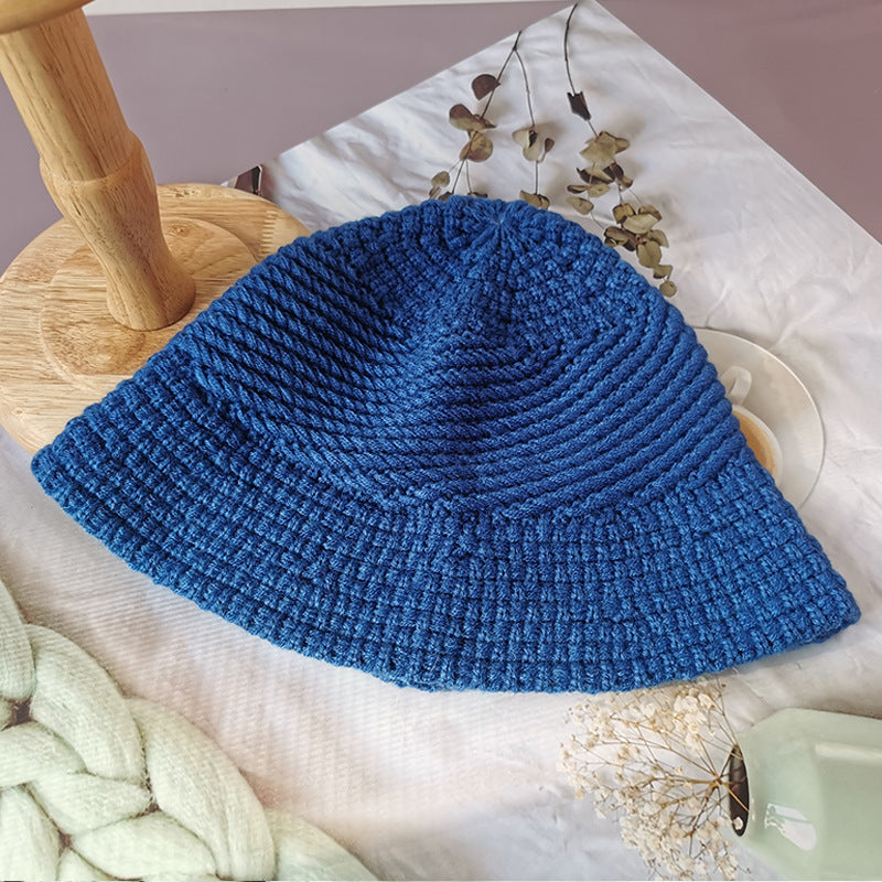 Women Pure Color Hat Knitted Wild Cap