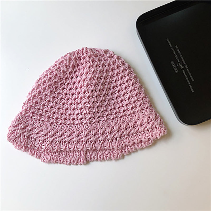 Women Retro Foldable Woven Knitted Hat