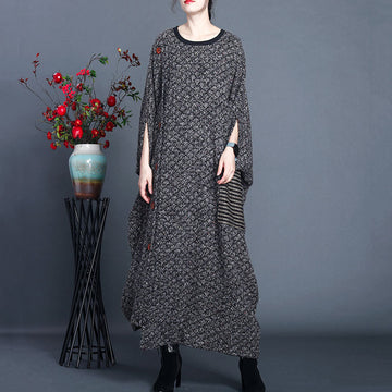 Women Retro Knitted Breasted Pocket Dress
