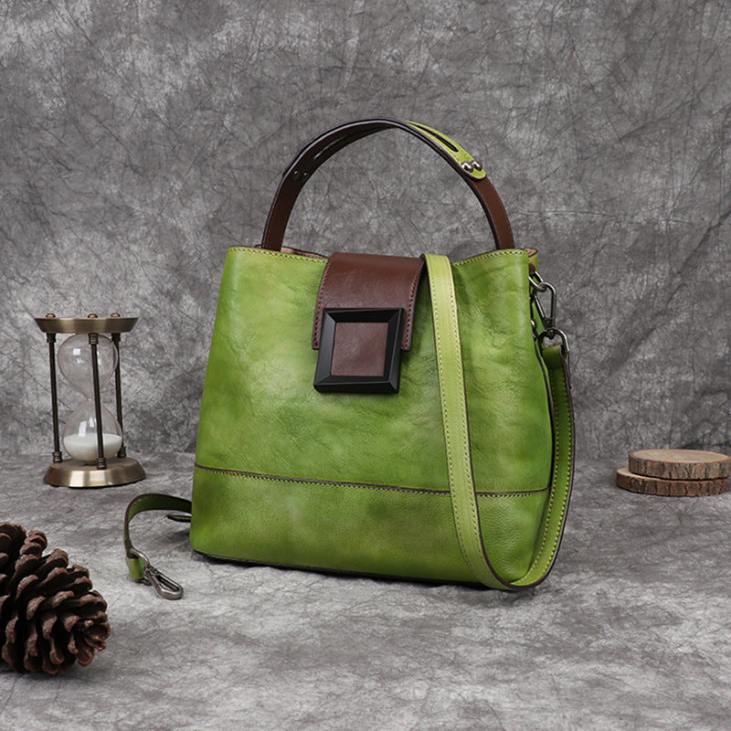 Women Retro Leather Handbag Crossbody Bag