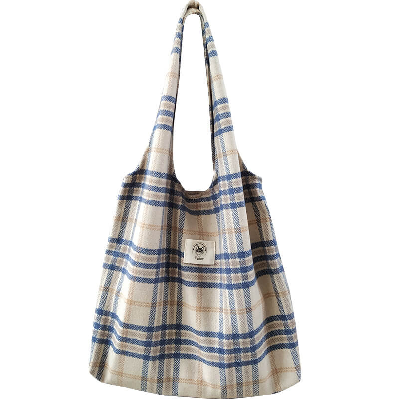 Women Retro Plaid Shoulder Bag