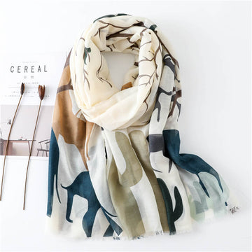 Women Retro Sunscreen Simple Scarf