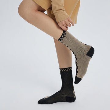 Women Simple Stitching Warm Socks(2 Pairs)