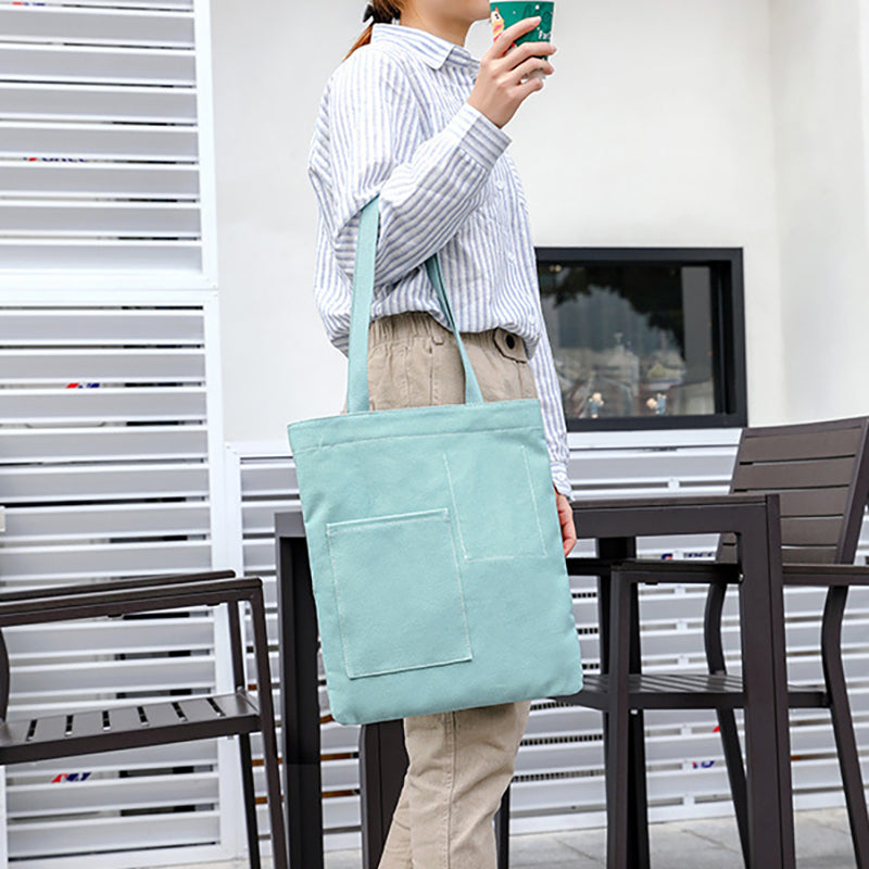 Women Solid Color Canvas Shoulder Bag