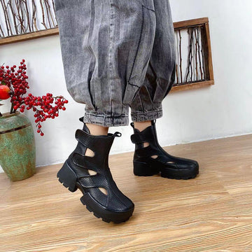 Women Spring Summer Hollow Out Casual Short Boots