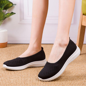 Women Spring Summer Hollow Out Knitted Shoes