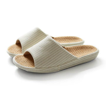 Women Stripes Indoor Summer Casual Slippers