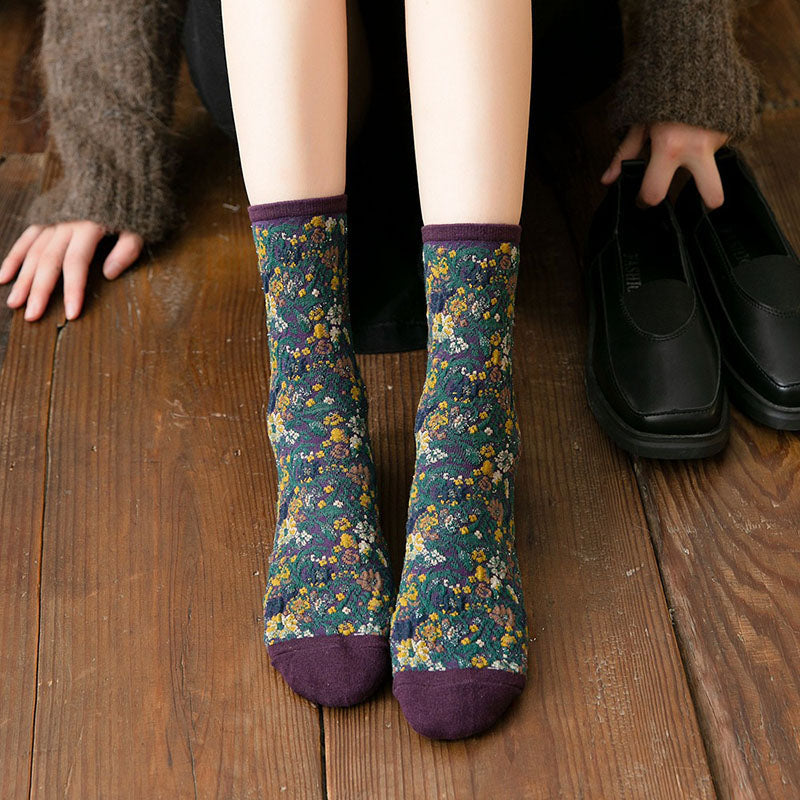 Women Thick Retro Socks(3 Pairs)