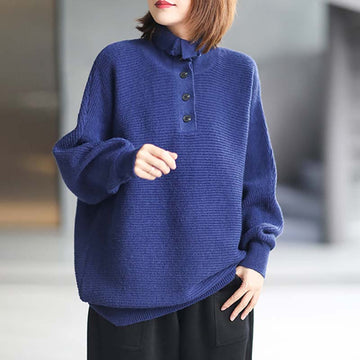 Women Turtleneck Knitted Casual Jumper