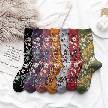 Women Wild Floral Socks(3 Pairs)