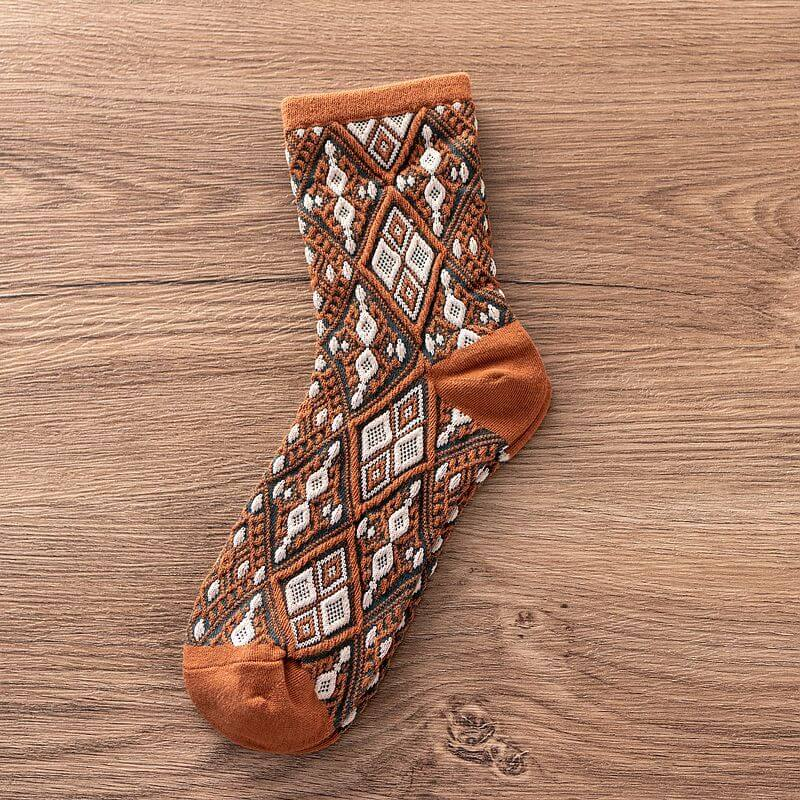 Women Winter Geometric Thicken Socks(3 Pairs)