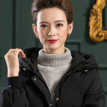 Women Winter Solid Color Wool Collar