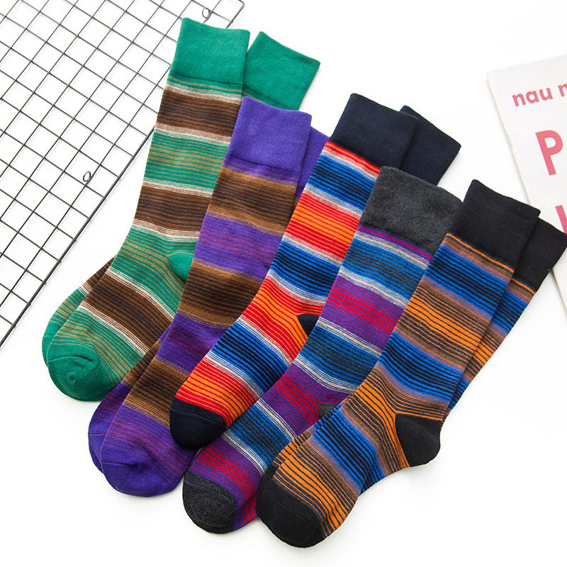 Women Winter Striped Casual Socks(2 Pairs)