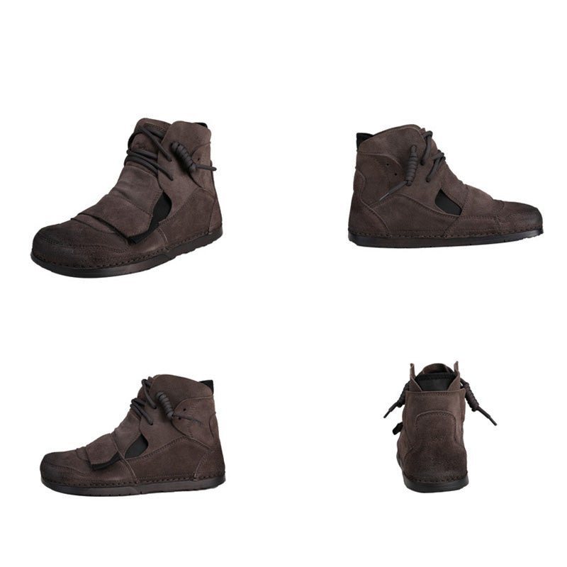 Women Winter Warm Leather Lace-up Shoes