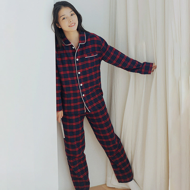 Women Winter Warm Pajamas Two Piece Sets