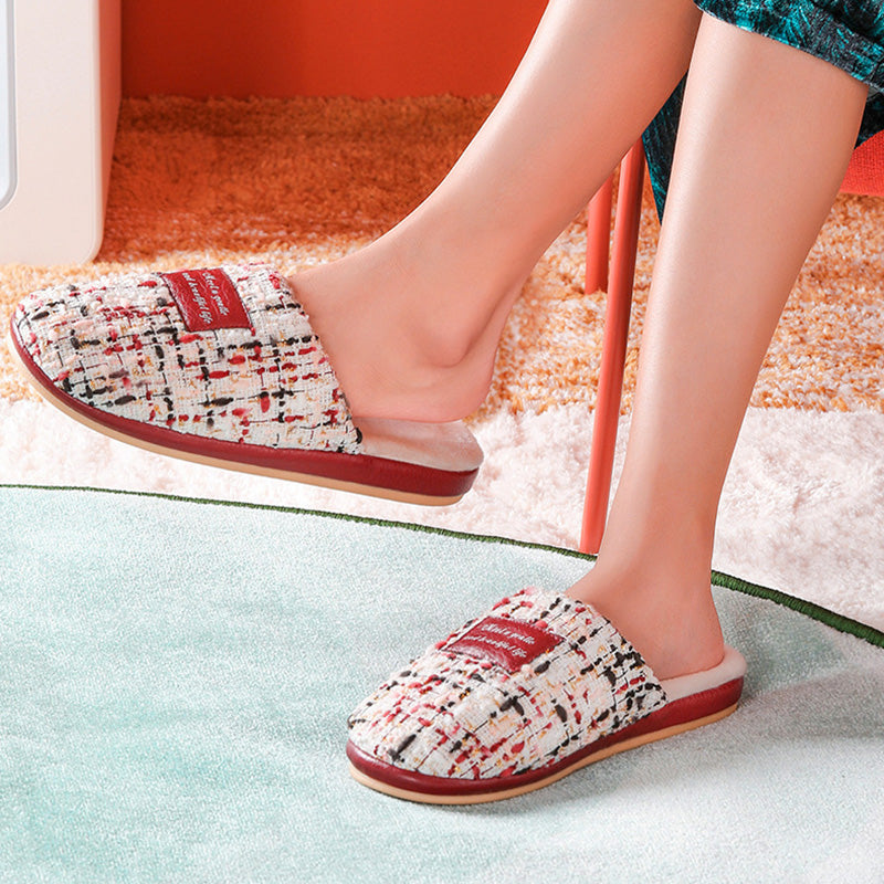 Women Winter Warm Patchwork Shoes