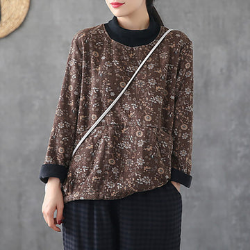 Women Winter Warm Plus Velvet Blouse
