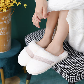 Women Winter Warm Solid Color Slippers