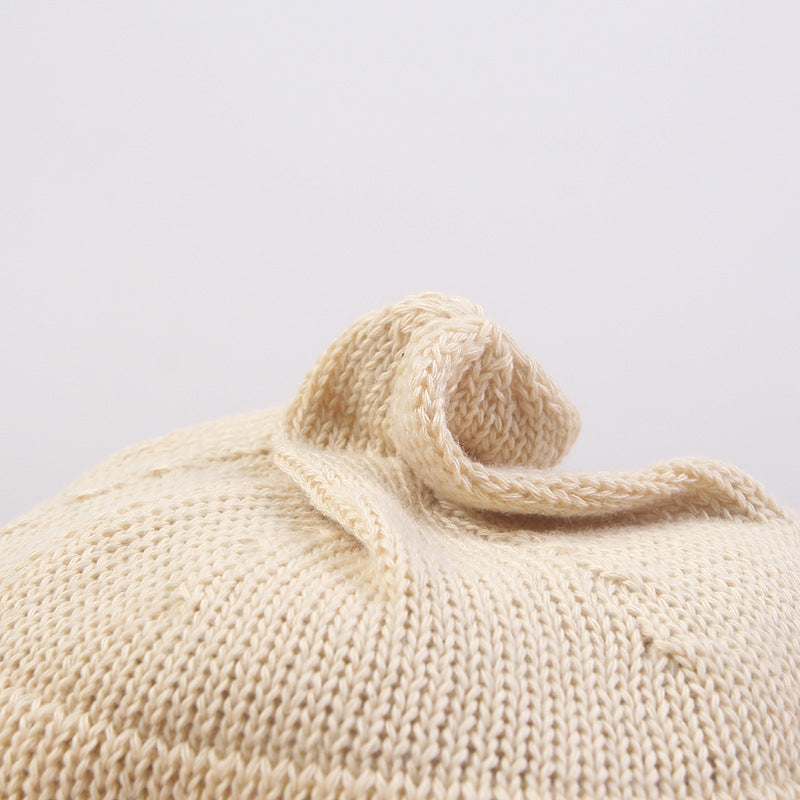 Women Woven Solid Color Cotton Hat