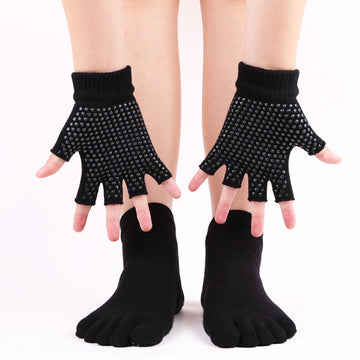 Women Yoga Non-slip Gloves And Socks