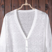 Women Cardigan Casual Hollow Out Shirt