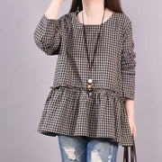 Women Casual Long Sleeve Plaid Shirt