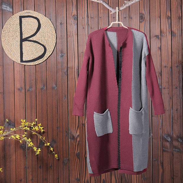 Women Casual Long Sleeves Knitted Coat
