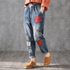 Women Casual Loose Cotton Harem Pants With Pockets