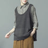 Women Casual Spring Solid Vest Sweater