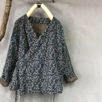 Women Chinese Style Vintage Floral Lacing Cardigan Coat