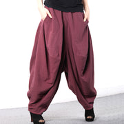 Women Cotton Loose Linen Baggy Harem Pants