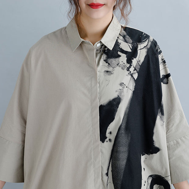 Women Cotton Seven Percent Sleeve Shirt