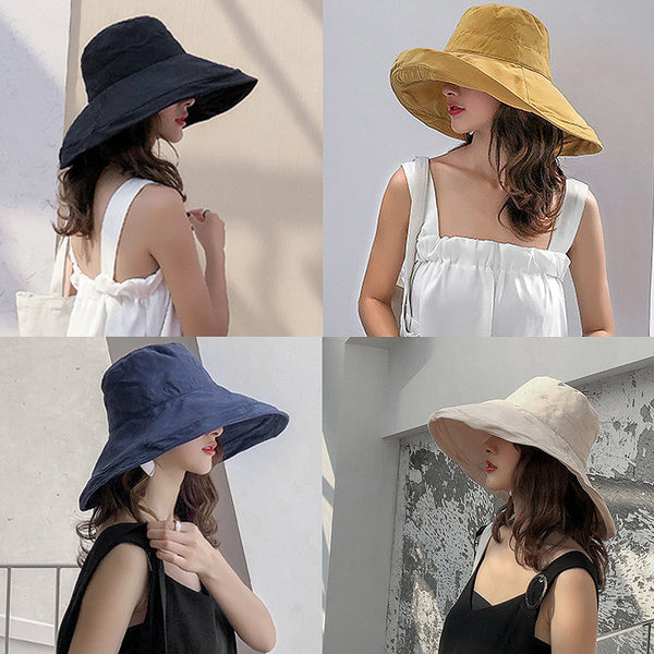 Women Double Sided Summer Casual Hat