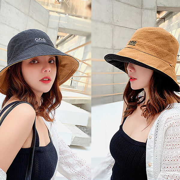 Women Fashion Embroidery letter Summer Hat