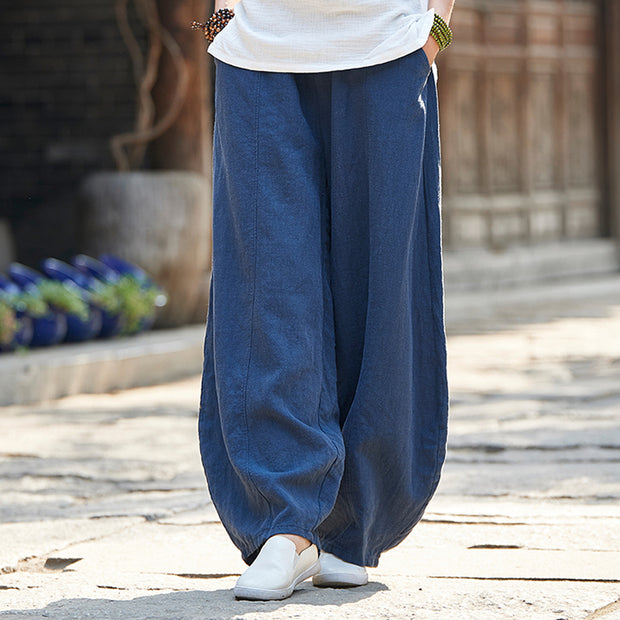 Women Knickerbockers Loose Autumn Linen Pants
