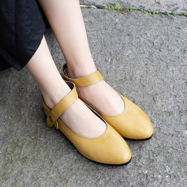 Women Leather Casual Elastic Band Spliced Pumps