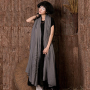 Women Linen Embroidery Thread Long Scarf Shawl