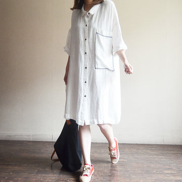 Women Long Button-Down Shirt Casual Loose