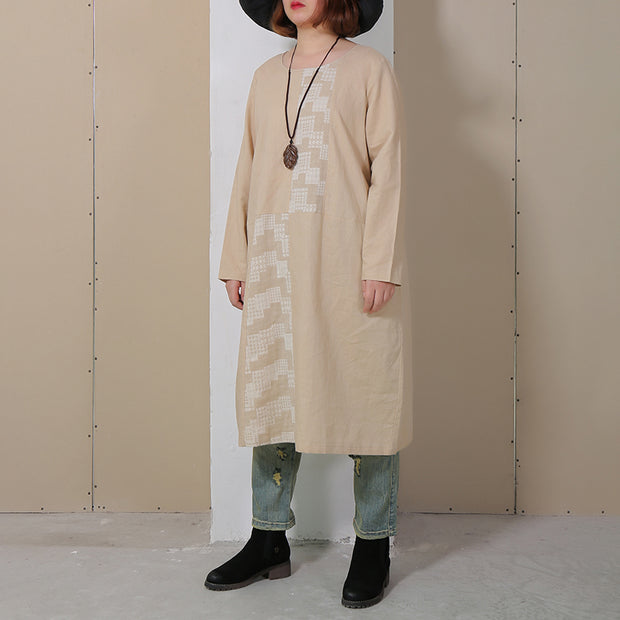Women Long Sleeve Loose Casual Autumn Dress