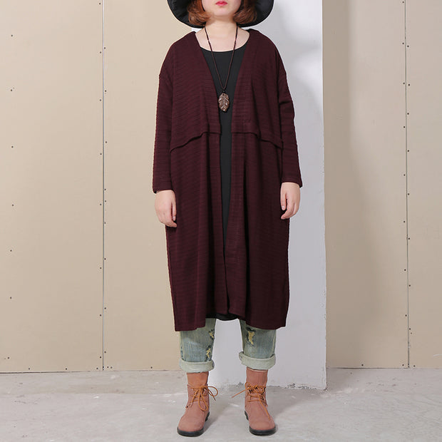 Women Long Sleeve Loose Casual Cardigan Coat