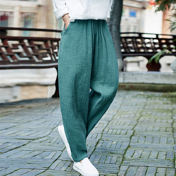 Women Retro Full Length Harem Pants